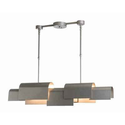 Coto 4-Light Kitchen Island Pendant Finish: Black, Size: 46.2 H x 40 W x 5.2 D