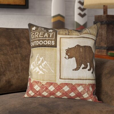 Jamari Rustic Square Outdoor Throw Pillow Size: 20 x 20