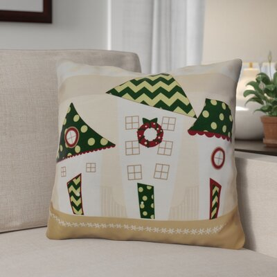 Decorative Christmas Print Outdoor Throw Pillow Size: 20 H x 20 W, Color: Green