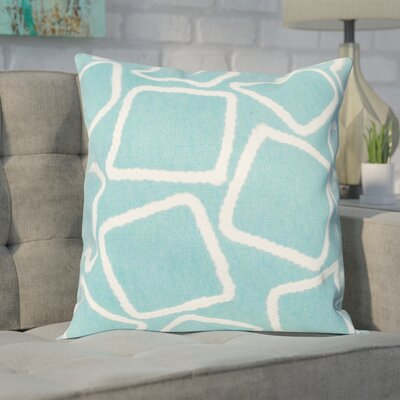 Colley Throw Pillow Color: Aqua