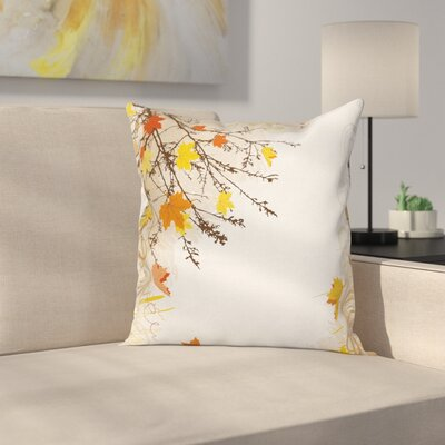Maple Leaves in Autumn Square Pillow Cover Size: 20 x 20