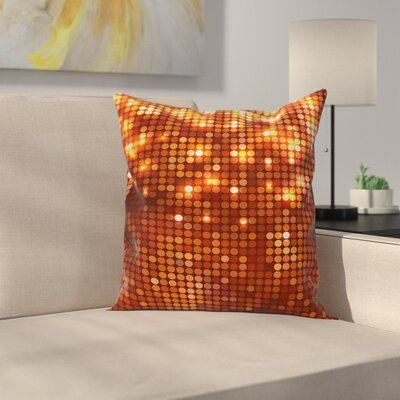 Vivid Dots Mosaic Square Pillow Cover Size: 16 x 16
