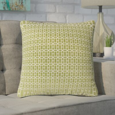 Yemanja Geometric Throw Pillow Color: Kiwi