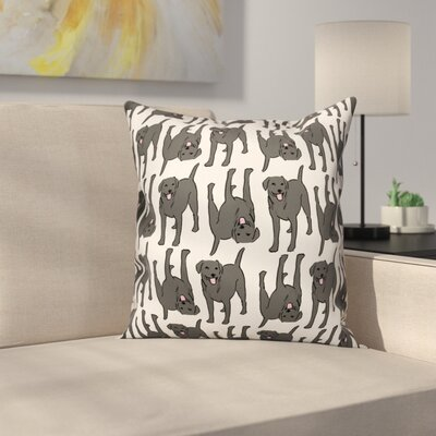 All The Labs Throw Pillow in , Throw Pillow Color: Black, Size: 18 x 18