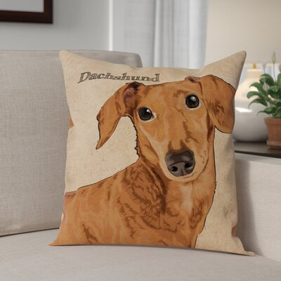 Crispin Dachshund Throw Pillow
