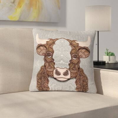 Art Love Passion Gustaf the Bull Outdoor Throw Pillow Size: 18 H x 18 W x 5 D