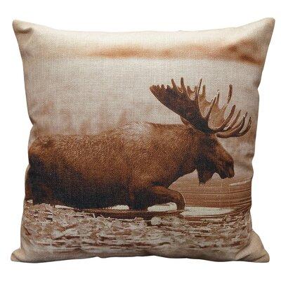 Presswood Burlap Throw Pillow