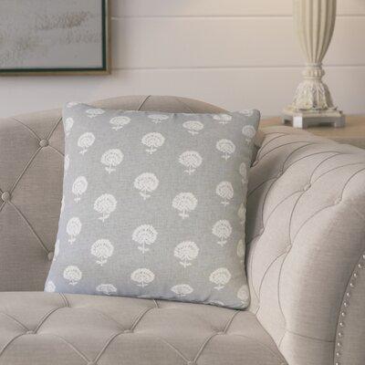 Benito Cotton Throw Pillow Color: Graystone