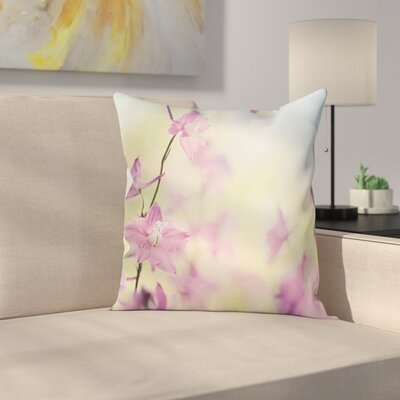 Larkspur Petals Summer Square Pillow Cover Size: 16 x 16
