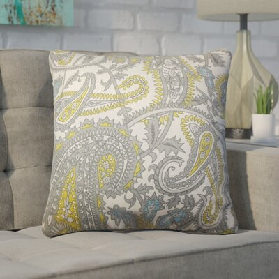Zenobius Paisley Cotton Throw Pillow