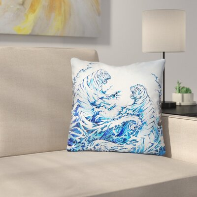 The Crashing Waves Throw Pillow