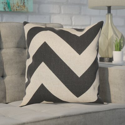 Spadafora 100% Cotton Throw Pillow Color: Black / Natural, Size: 18 H x 18 W