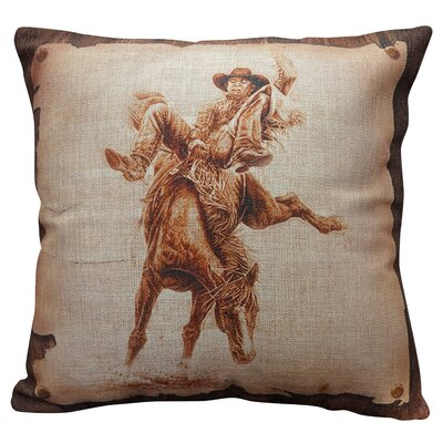 Printers Row Burlap Throw Pillow