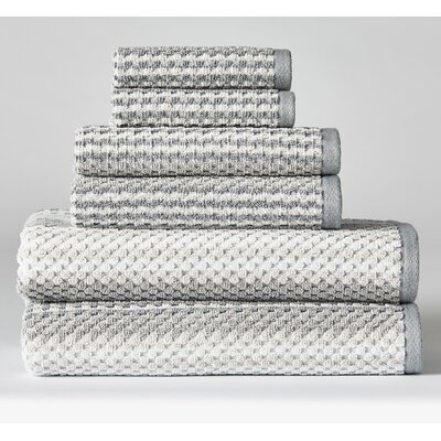Ellinger Diagonal 6 Piece Towel Set