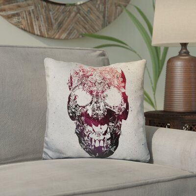 Catron Skull Sq Throw Pillow