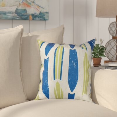 Golden Beach Dean Geometric Outdoor Throw Pillow Size: 18 H x 18 W, Color: Light Green
