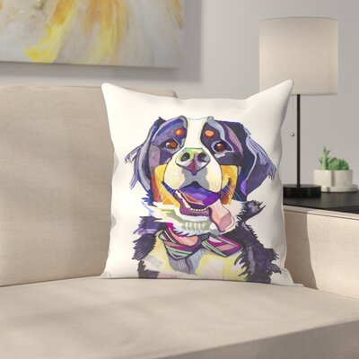 Burmese Mountain Dog Throw Pillow Size: 18 x 18
