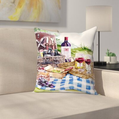 Picnic Throw Pillow Size: 14 x 14