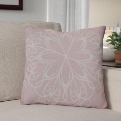Decorative Snowflake Print Outdoor Throw Pillow Size: 20 H x 20 W, Color: Light Pink