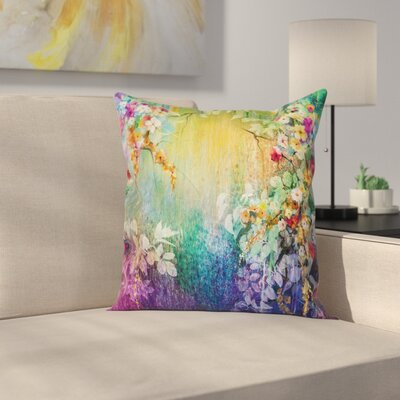 Ivy Floral Beauties Square Pillow Cover Size: 20 x 20