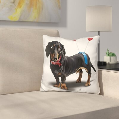 Butt Daschund Throw Pillow