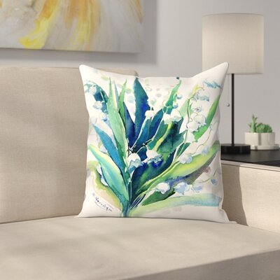 Suren Nersisyan Lilies of the Valley Suren 2 Throw Pillow Size: 14 x 14