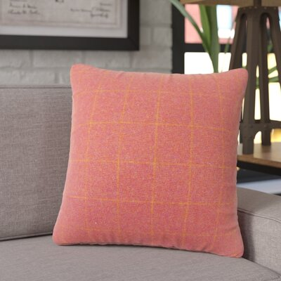 Janvier Plaid Throw Pillow Color: Red