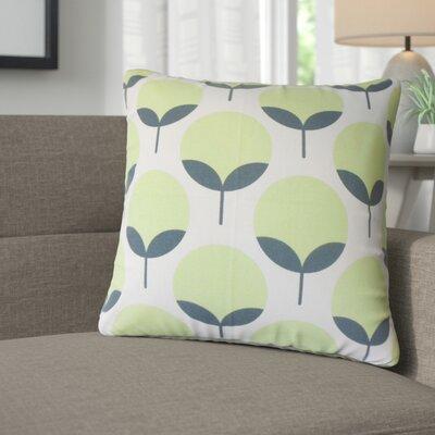 Renata Geometric Cotton Throw Pillow Color: Kiwi