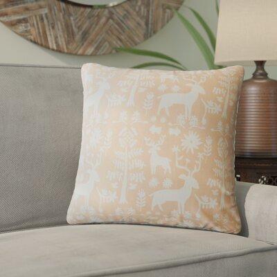 Venito Modern Animal Print Cotton Throw Pillow Color: Orange