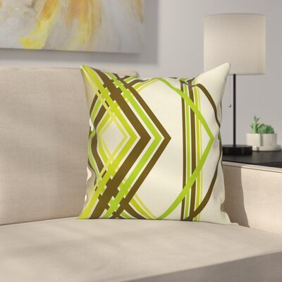 Diamond Shapes Square Pillow Cover Size: 24 x 24