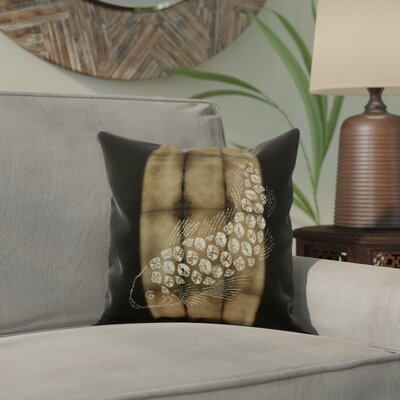 Viet Fish Pool Indoor/Outdoor Throw Pillow Size: 16 H x 16 W, Color: Brown