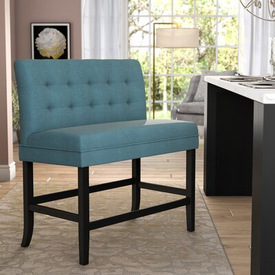 Dekalb 28.5 Bar Stool Upholstery: Dark Teal