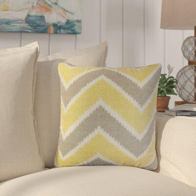 Simonton Zigzag Linen Throw Pillow Color: Yellow