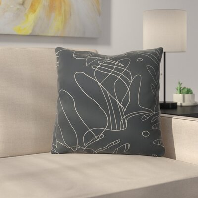 The Old Art Studio Monster Throw Pillow Color: Black, Size: 18 x 18