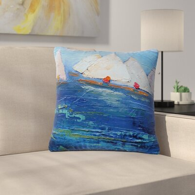 Carol Schiff Swirls Outdoor Throw Pillow Size: 18 H x 18 W x 5 D