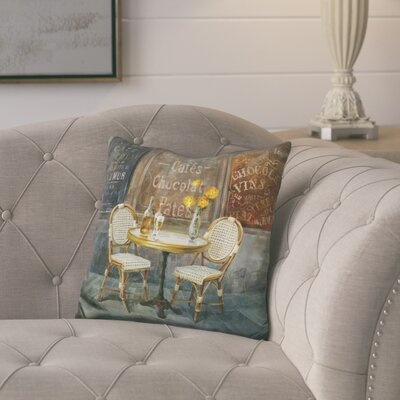 Juan French Cafe Throw Pillow