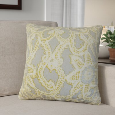 Giao Geometric Cotton Throw Pillow Color: Gold/Silver