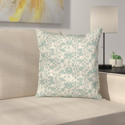 Retro Soft Abstract Circles Square Pillow Cover Size: 24 x 24