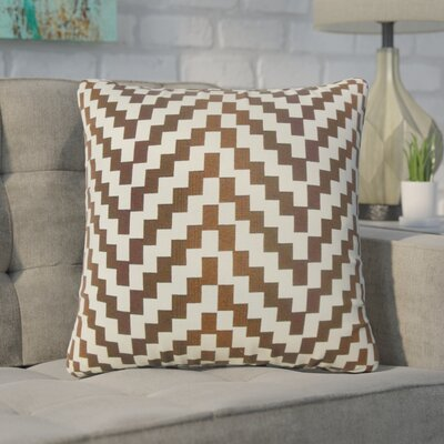 Chabot Geometric Throw Pillow Color: Mahogany