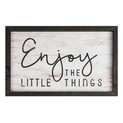 Farmhouse Frame - Enjoy the Little Things Wall Décor
