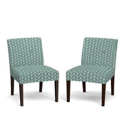 Lennon Side Chair Upholstery: Turquoise