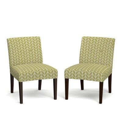 Lennon Side Chair Upholstery: Green