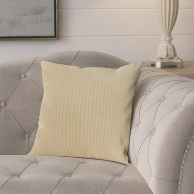 Chavira Decorative Throw Pillow Color: Yellow, Size: 16 x 16