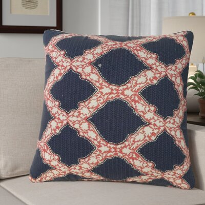 Alcera Geometric Down Filled 100% Cotton Throw Pillow Size: 18 x 18, Color: Indigo