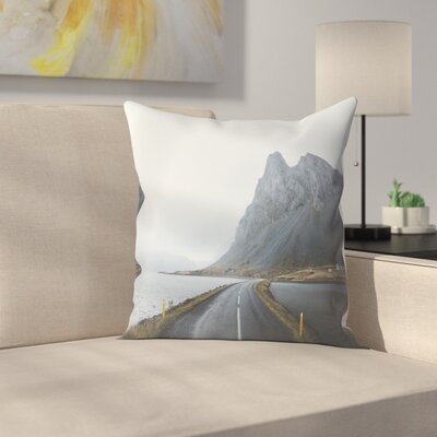 Luke Gram Eastern Region Iceland Ii Throw Pillow Size: 20 x 20