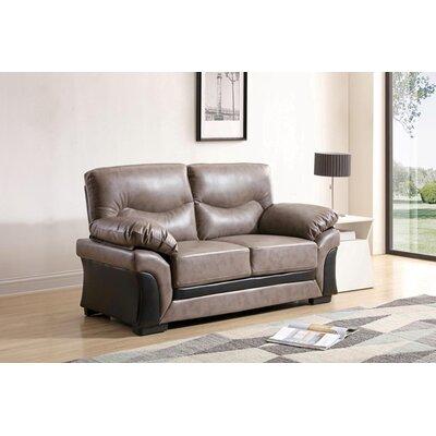 Pawlak Loveseat Upholstery: Gray/Black