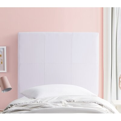 Cleasby Classic Twin Upholstered Panel Headboard Color: White