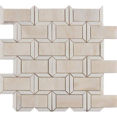 Angora Framework Random Sized Marble Mosaic Tile in Beige