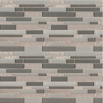 Snowmass Random Sized Glass/Porcelain Mosaic Tile in Gray/Brown