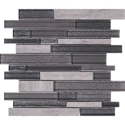 Smoky Alps Random Sized Glass/Porcelain Mosaic Tile in Gray